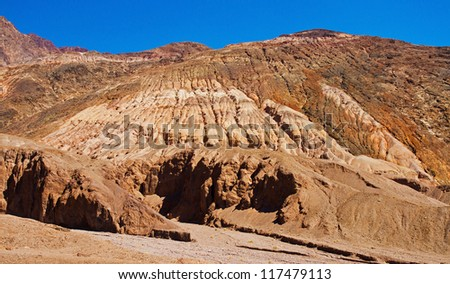 Beautiful landscape in the Death Valley, California, USA - stock photo