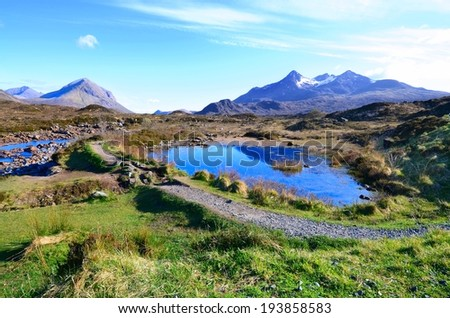Beautiful landscape in the highlands of Scotland  - stock photo