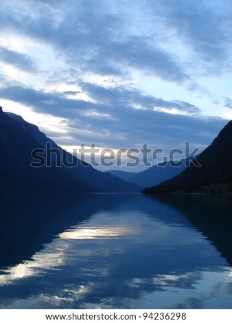Beautiful landscape near Loen Norway - stock photo