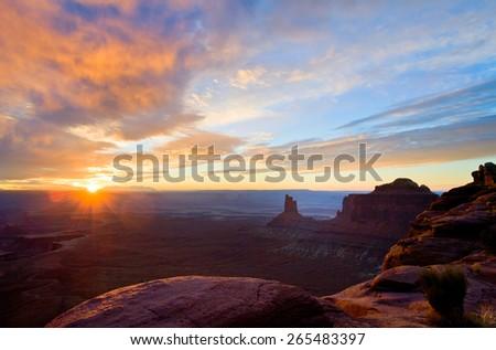 Beautiful Landscape of Grand Canyon  - stock photo