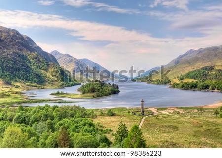 Beautiful landscape of  Loch Shiel in Glenfinnan, Scotland - stock photo