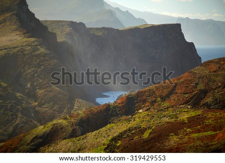 Beautiful landscape of Madeira Island - stock photo
