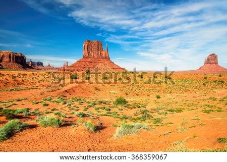Beautiful landscape of Monument Valley, Utah - stock photo