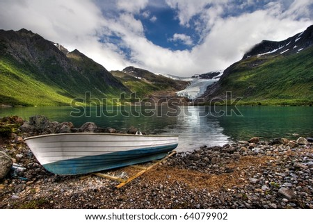 Beautiful landscape of Norway. - stock photo