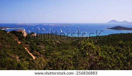 Beautiful landscape sea in Sardinia - stock photo