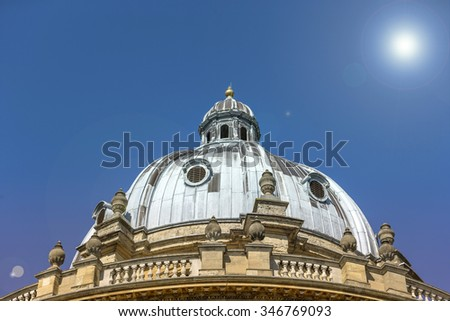 Beautiful large dome roof on an historic building in Oxford - stock photo