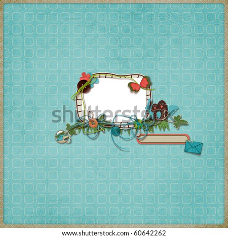 Beautiful layout with photo frame - stock photo