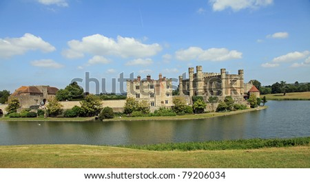 Beautiful Leeds Castle on a summer's day - stock photo
