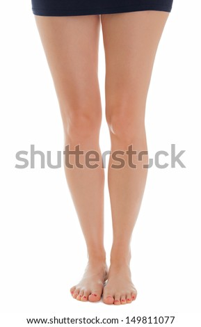 Beautiful legs of a woman standing - stock photo