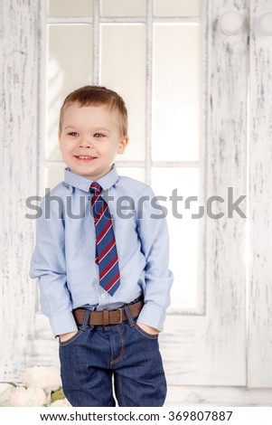 beautiful little gentleman - stock photo