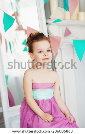 Beautiful little girl - stock photo