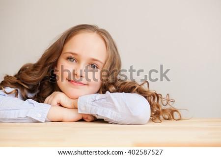 Beautiful little lady - stock photo