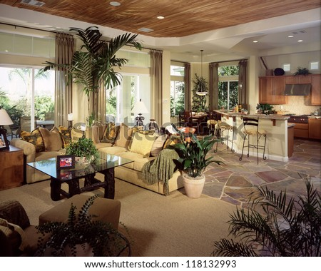 Beautiful Living room Architecture Stock Images, Photos of Living room, Dining Room, Bathroom, Kitchen, Bed room, Office, Interior photography. - stock photo