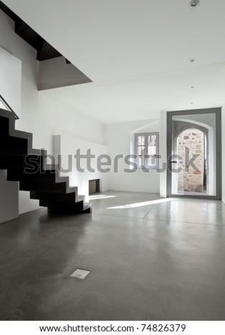 beautiful loft duplex, interior gateway - stock photo