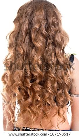 Beautiful long hair/girl - stock photo