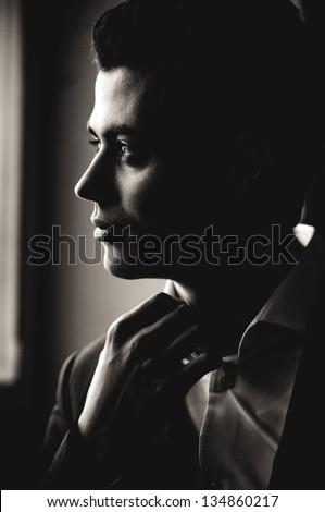 Beautiful man - stock photo