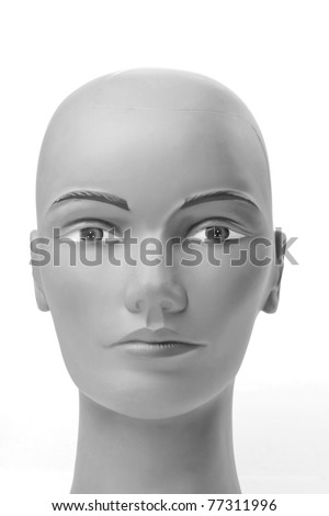 beautiful mannequin portrait - stock photo