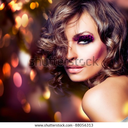 Beautiful Model. Fashion portrait - stock photo