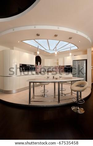 beautiful modern apartment interior - stock photo