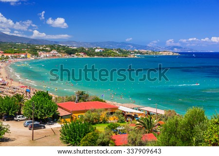 Beautiful Mojito beach on Zakynthos, Greece - stock photo