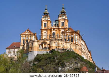 Beautiful monastery of Melk,Austria - stock photo