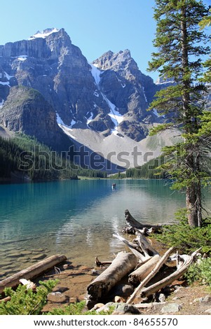 Beautiful Moraine Lake in Banff National Park, Alberta, Canada - stock photo
