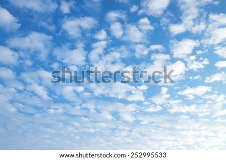 Beautiful morning cloudy sky - stock photo