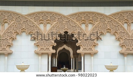 Beautiful Moroccan Architecture engrave design - stock photo