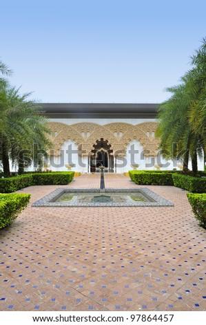 Beautiful Moroccan Pavilion in Putrajaya, Malaysia - stock photo