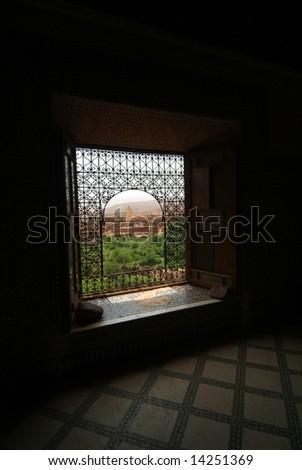 Beautiful Moroccan window - stock photo
