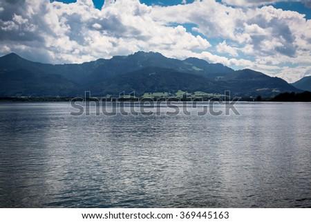 Beautiful mountain lake in the Austrian Alps - stock photo