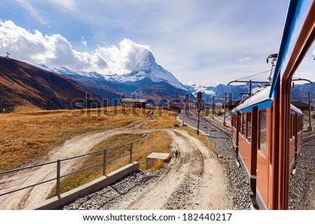 Beautiful mountain Matterhorn , Swiss Alps  - stock photo