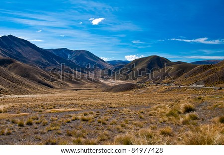 Beautiful Mountain scape at New Zealand - stock photo