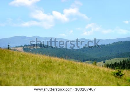 Beautiful mountains landscape - stock photo