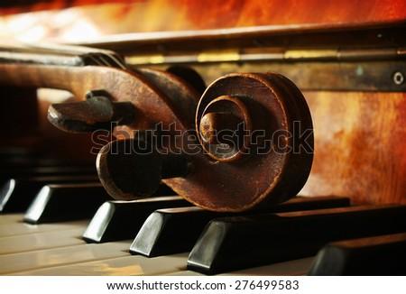 Beautiful music instruments - stock photo