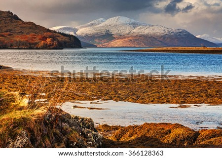Beautiful natural landscape in Scotland - stock photo