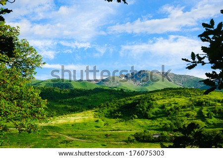Beautiful nature landscape - stock photo