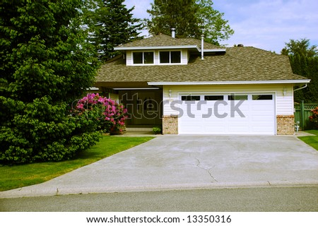 Beautiful Neighborhood Home - stock photo