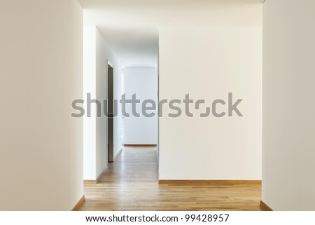 beautiful new apartment, interior, empty room - stock photo
