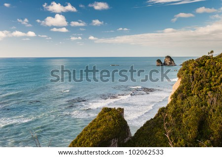 Beautiful New Zealand ocean - stock photo