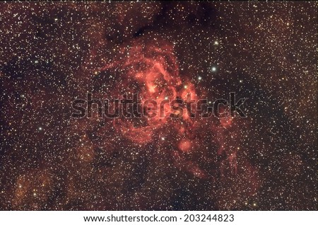 Beautiful Night Sky and Deep sky Object,NGC6357 ,Lobster Nebula in the constellation of Scorpius. - stock photo