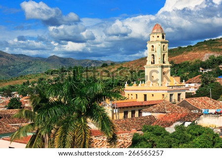 beautiful old church in Trinidad in the sky - stock photo