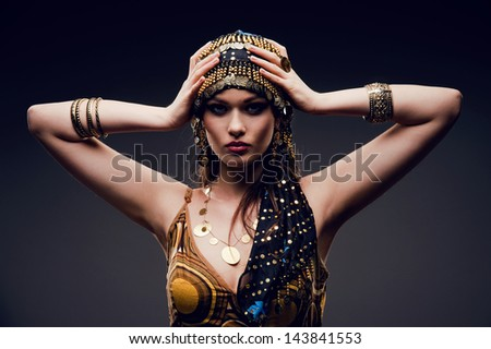 beautiful oriental girl - stock photo