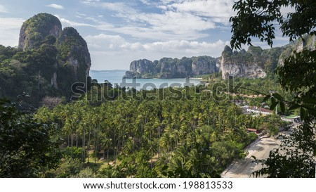 Beautiful panorama of Railay. Krabi, Thailand - stock photo
