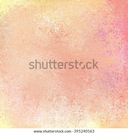 beautiful pastel background in pink peach purple orange and gold colors with white grunge texture, spring background - stock photo