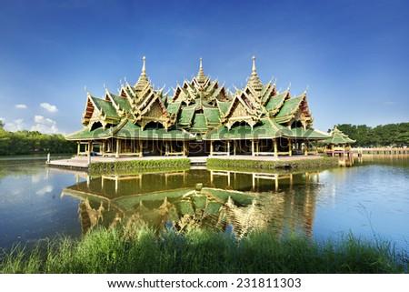 Beautiful pavilion in Thailand - stock photo