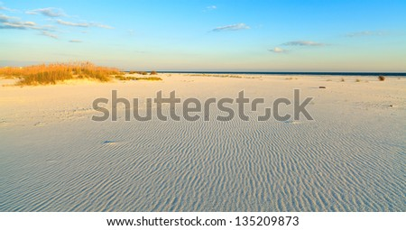 Beautiful Perdido Beach in Pensacola, Florida. - stock photo