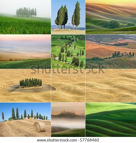 Beautiful pictures from Tuscany, Italy High-resolution images can be found in my portfolio - stock photo