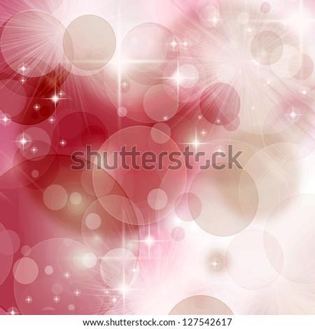 Beautiful Pink  Bokeh - stock photo