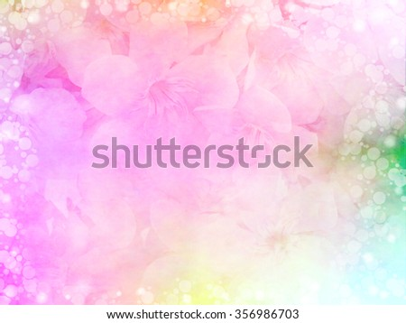 beautiful pink flower in pastel color with bokeh light border for love concept - stock photo